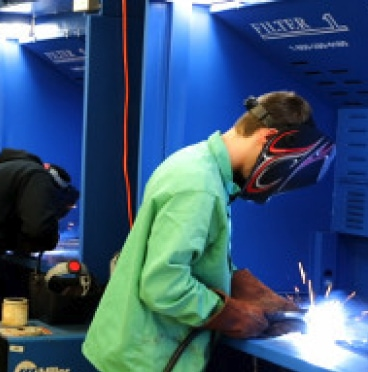Weldtrons Make the Difference for High School Welding Lab